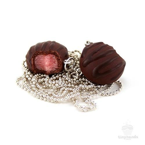 Scented or Unscented Cherry Chocolate Truffle Necklace