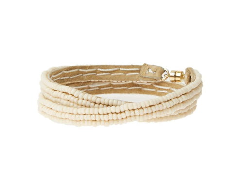 Ivory Simple XS Double Wrap Bracelet by Sidai Designs