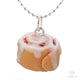 Scented or Unscented Cinnamon Roll Necklace