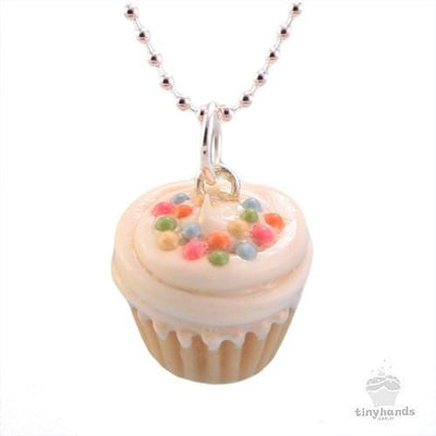 Scented or Unscented Vanilla Sprinkles Cupcake Necklace