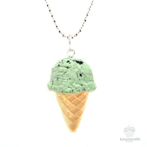 Scented or Unscented Mint Chocolate Chip Ice-Cream Necklace