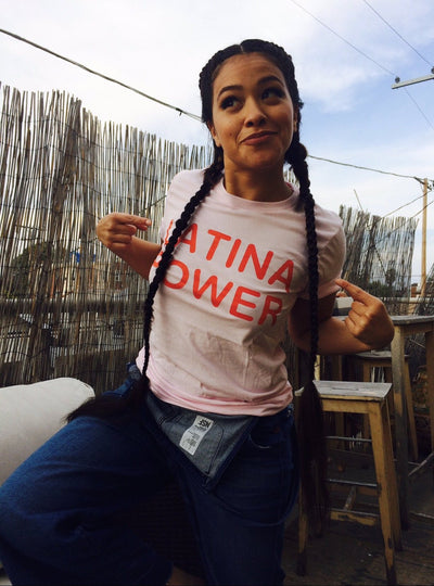 Soft Pink Latina Power Tee