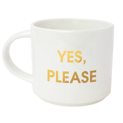 Yes, Please Gold Metallic Mug