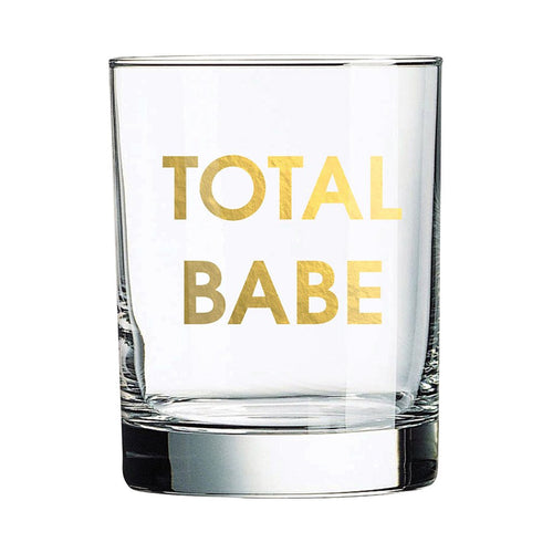 Total Babe Rocks Glass
