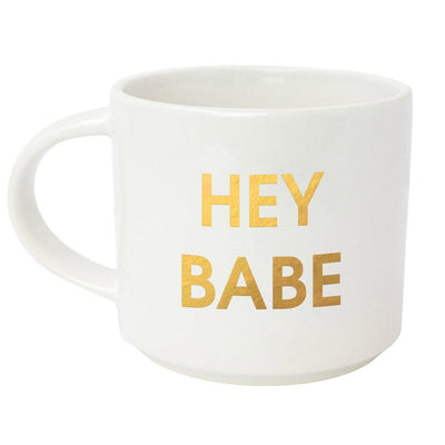 Hey Babe Metallic Gold Mug