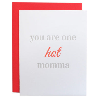One Hot Momma Letterpress Card