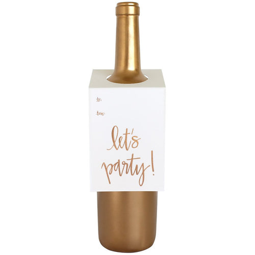 Let's Party Script Wine & Spirit Tag