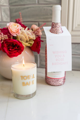 Total Babe Candle - Gold Foil Rocks Glass