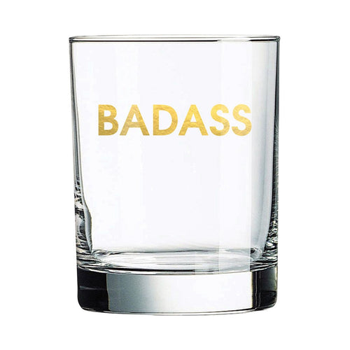 Badass Rocks Glass