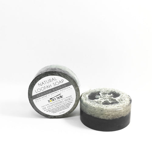 'charcoal bamboo' loofah soap