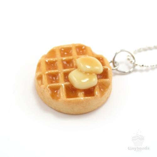 Scented Butter & Maple Syrup Waffle Necklace