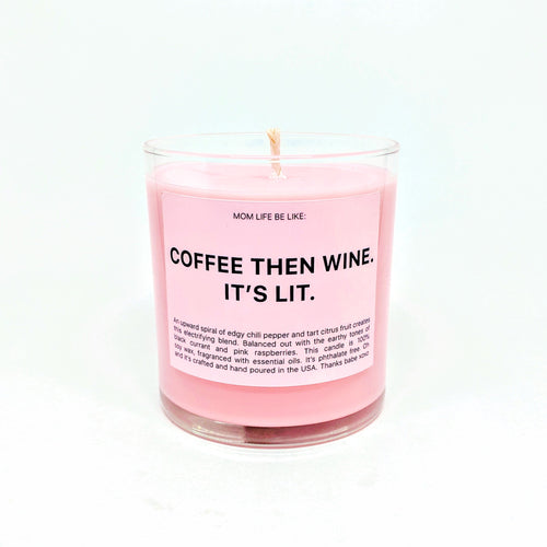 COFFEE THEN WINE CANDLE