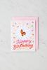 """Pinata Birthday"" enamel pin card"