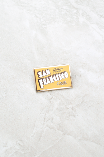 San Francisco postcard pin