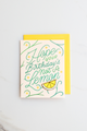 """Sour Birthday"" enamel pin card"