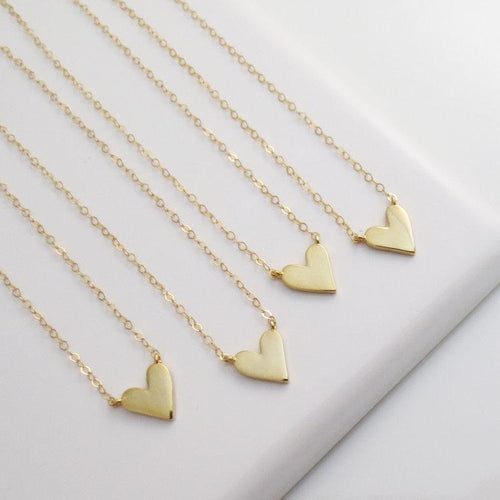 Tiny love heart necklace