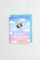 """Too Broke Birthday"" enamel pin card"