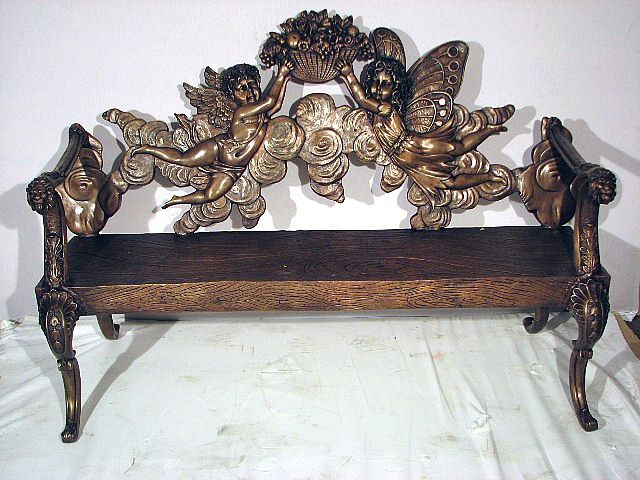 2 Angels Garden Bench - Bronze
