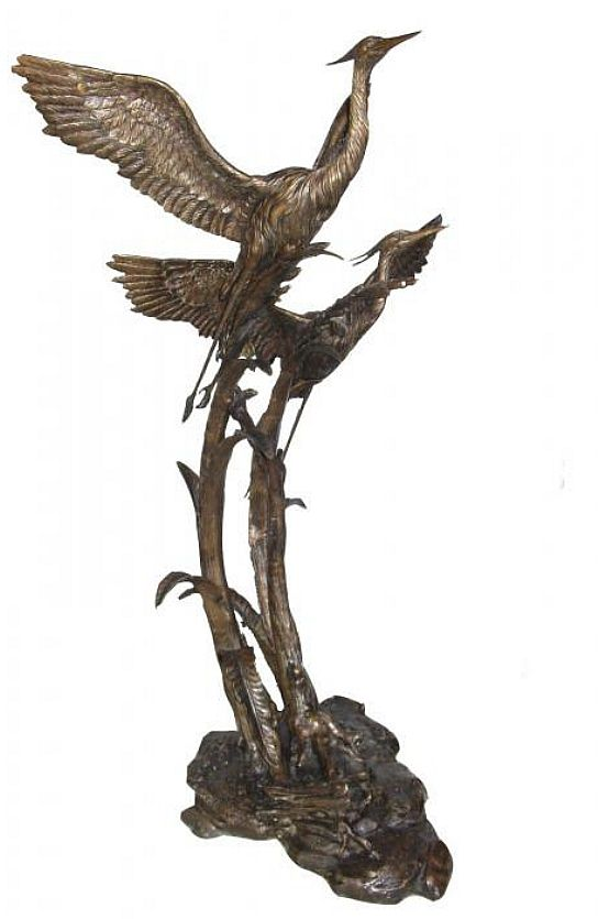 Herons in Flight Sculpture