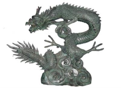 Chinese Dragon Sculpture with Power Sphere