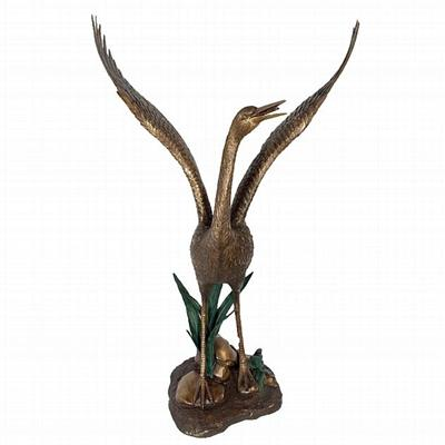 Heron Fountain Statue - Wings Outstretched