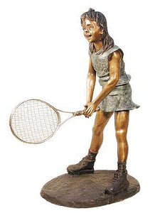 Young Tennis Girl Statue