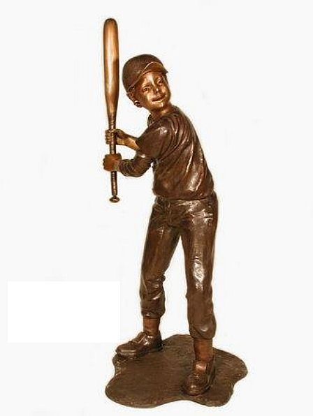 Baseball Boy Hitter Sculpture I