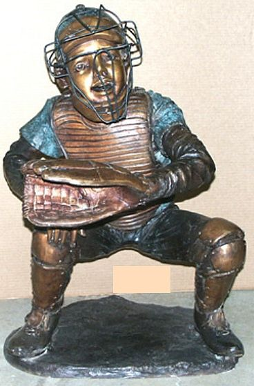 Kneeling Baseball Boy Statue