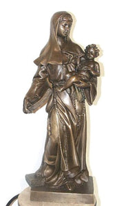 The Blessed Virgin Mary and Child - Bronze Sculpture