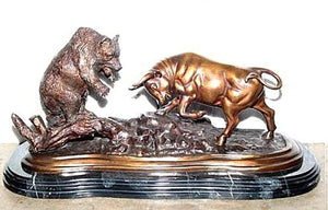 Large Bull and Bear Sculpture