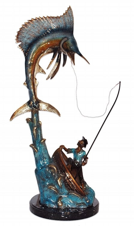 Bronze Marlin Fish Sculpture