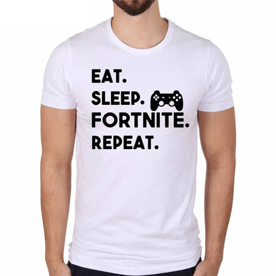 #Eat Sleep Fortnite Repeat Fortnite Lifestyle T-Shirt - Pro Game Stop