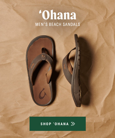 ʻOhana Men's Water Friendly Beach Sandals in Dark Java/Ray
