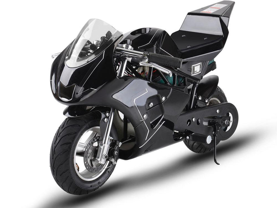 MotoTec MT-Elec-GP-Black Electric Pocket Bike GP 36v 500w Black By Big Toys  USA