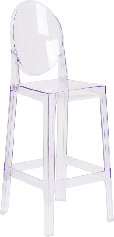 Strange Ghost Barstool With Oval Back In Transparent Crystal Ow Ghostback 29 Gg By Flash Furniture Uwap Interior Chair Design Uwaporg