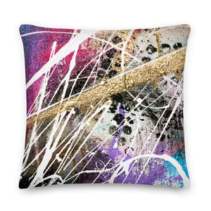 In A Trance Abstract - Premium Pillow