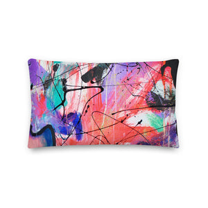 Crazy Thoughts Abstract - Premium Pillow