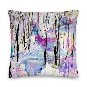 Down Pour Abstract - Premium Pillow