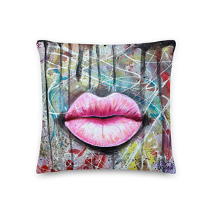 Pink Lips - Premium Pillow