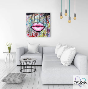 CANVAS PRINT | PINK LIPS