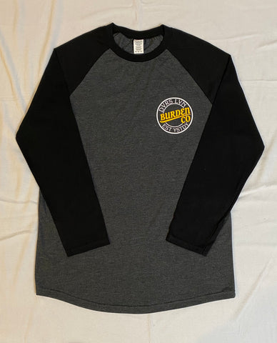 """Break Through"" Baseball Tee (Blk/Gry)"