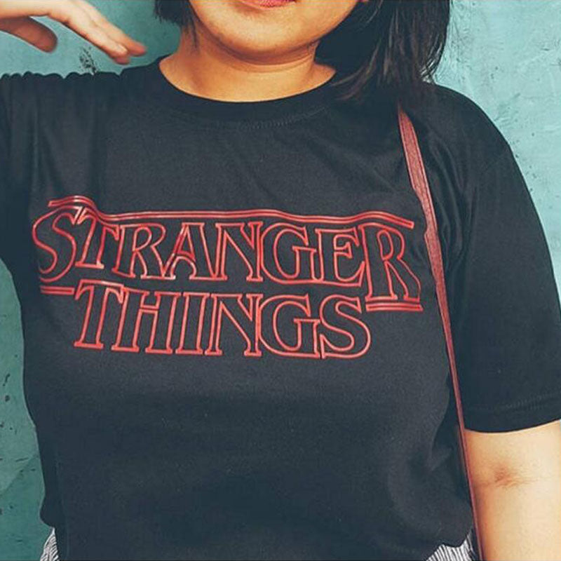 Horror Movie T-Shirt Stranger Things logo