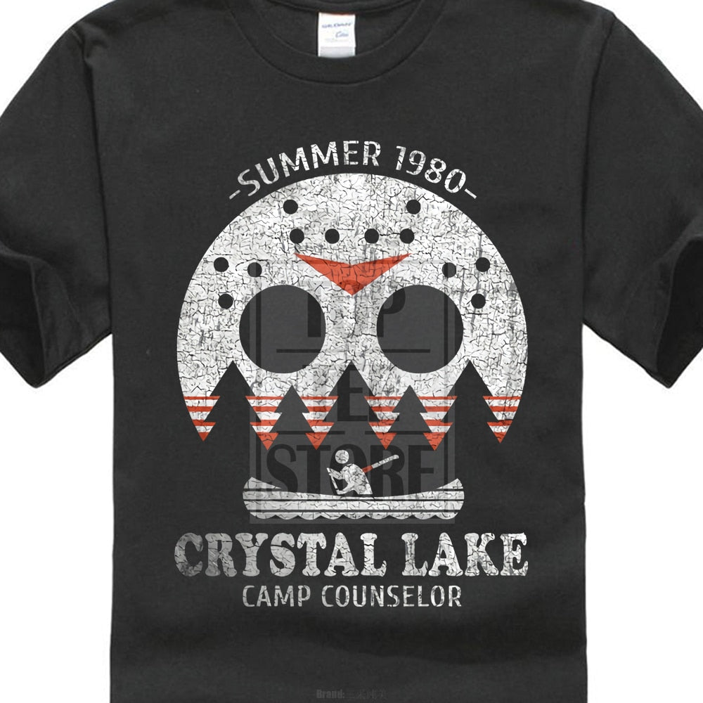 "Horror Movie T-Shirt Friday the 13th ""Crystal Lake Camp Counselor"""
