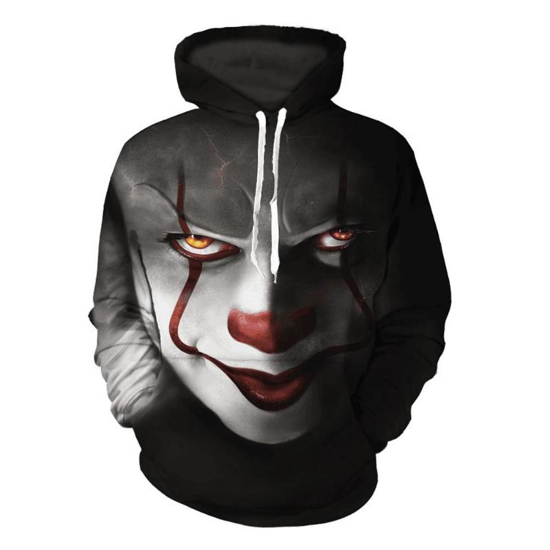 Horror Movie Hoodie 3D Print IT Pennywise Face