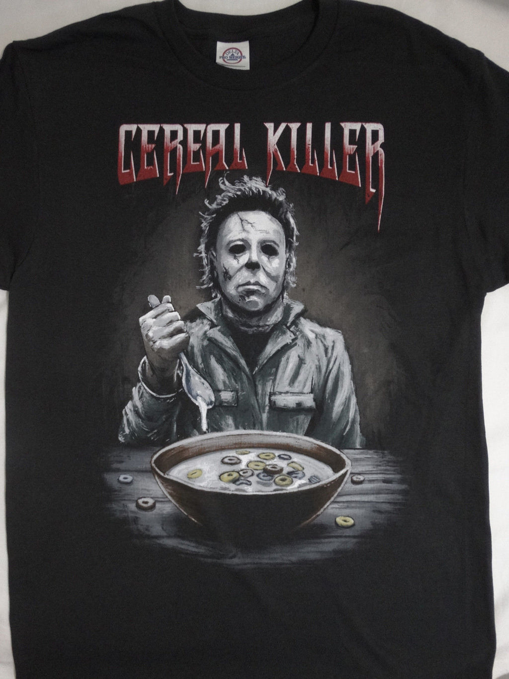 "Horror Movie T-Shirt Michael Myers ""Cereal Killer"""