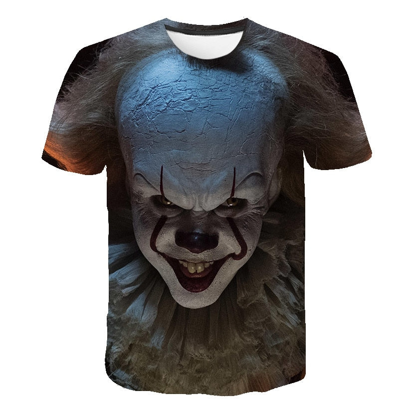 Horror Movie T-Shirt It Pennywise the Clown 3D Print