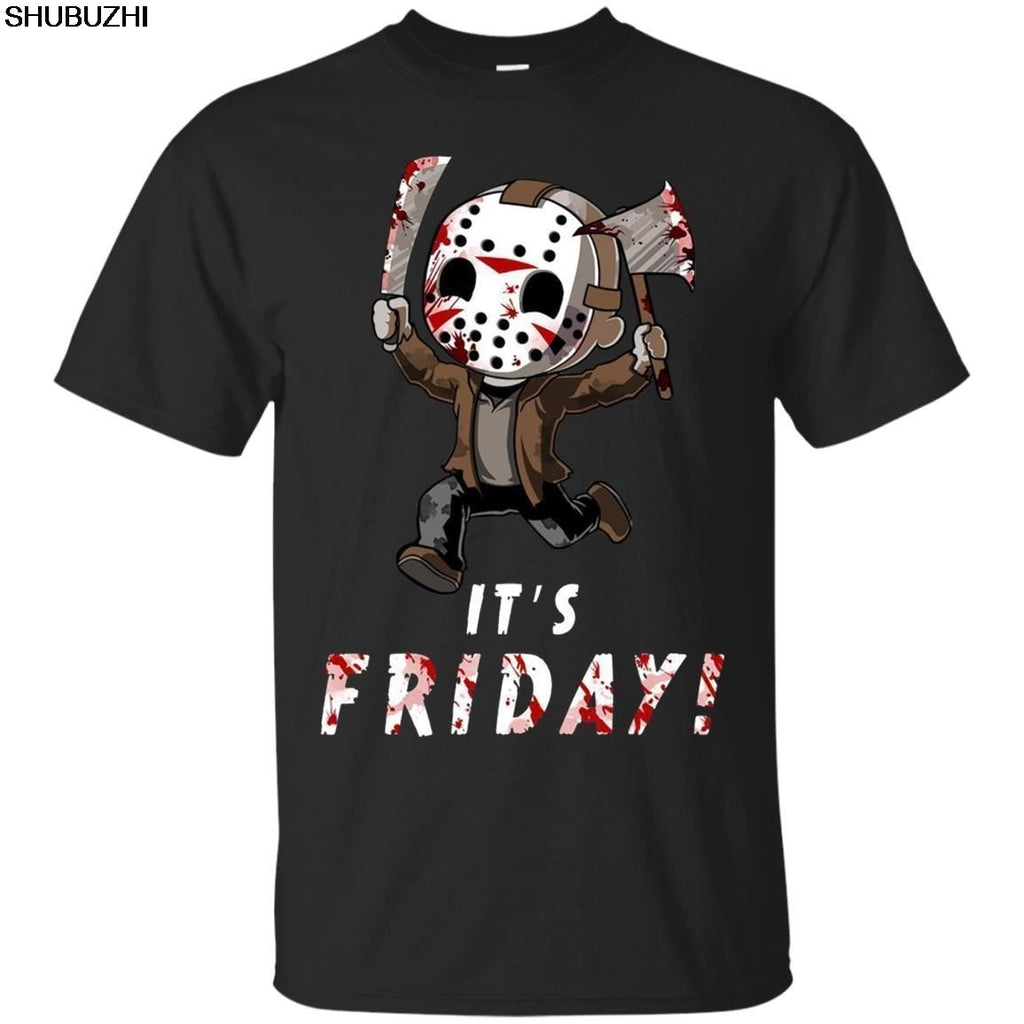 "Horror Movie T-Shirt Jason Voorhees ""It's Friday"" Friday the 13th"
