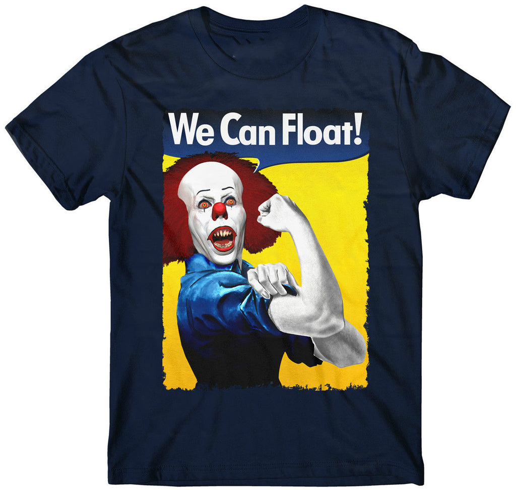 "Horror Movie T-Shirt Pennywise ""We Can Float"""