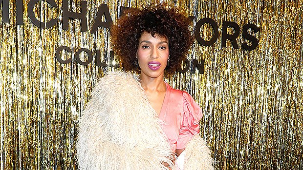 FEBRUARY HIGHLIGHT: Kerry Washington's Hair: Star Reveals Her Natural Curls & Soft Afro At Michael Kors