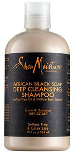 Shea Moisture African Black Soap Deep Cleansing Shampoo 13 oz